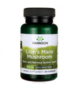 Swanson Full Spectrum Lion's Mane Mushroom 500mg 60 kaps.