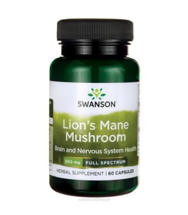 Swanson Full Spectrum Lion's Mane Mushroom 500mg 60 kaps.