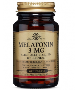 Solgar Melatonina 3mg 60 Pastylek