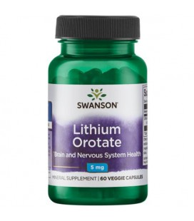 Swanson Ultra Lithium Orotate 5mg 60vcaps