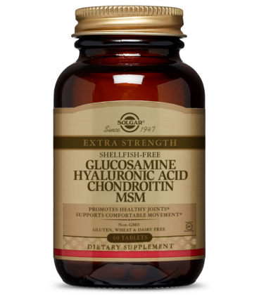Solgar Glucosamine Hyaluronic Acid Chondroitin MSM 60 tab