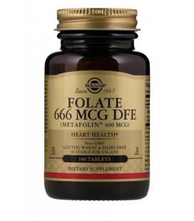 Solgar Folate 400ug (as metafolin) 100 tabletek