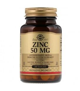 Solgar Zinc (Gluconate) 50 mg 100 tab