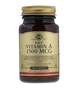 Solgar Witamina A 1500mcg 5000IU Dry 100 tabletek