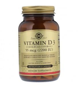 Solgar Natural Vitamin D3 55 mcg (2,200 IU) 100 vcaps
