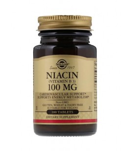 Solgar Niacin Niacyna 100mg 100 Tabletek