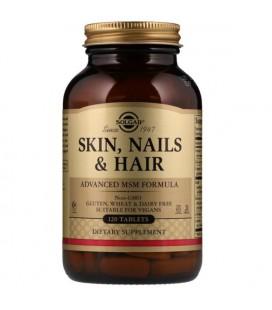 Solgar Skin, Nails & Hair, Advanced MSM Formula 120 tab