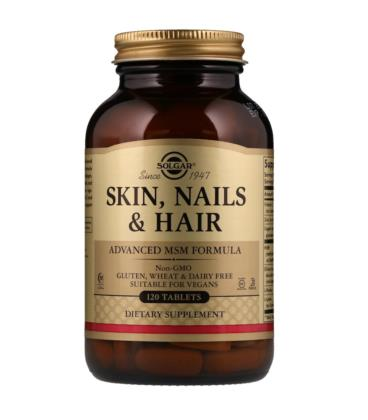 Solgar Skin, Nails & Hair, Advanced MSM Formula 120 tab