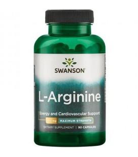 Swanson L-Arginina Forte 850mg 90 kapsułek