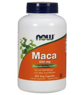 NOW FOODS MACA 500mg 250 VCAPS