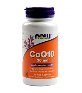 NOW FOODS CoQ10 30mg 60 VCAPS