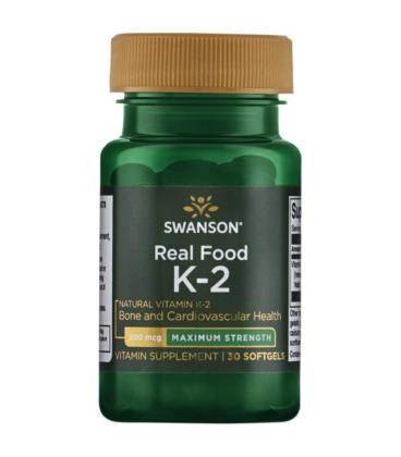 Swanson Ultra Real Vitamin K-2 Max 200mcg 30sofgel