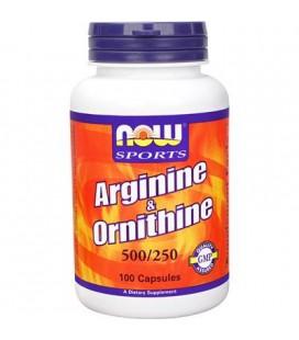 NOW FOODS ARGININE/ORNITHINE 100 CAPS