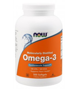 NOW FOODS OMEGA-3 1000mg 500 SGELS