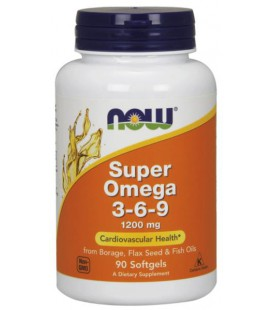 NOW FOODS SUPER OMEGA 3-6-9 1200MG 90 SGELS