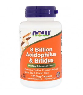 NOW FOODS 8 BILLION ACIDOPH/BIFIDUS 120 VCAPS