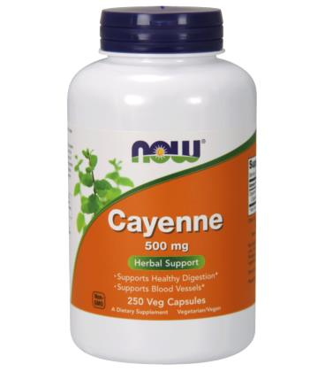 NOW FOODS CAYENNE 500mg 250 VCAPS