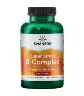 Swanson Super Stress B-Complex Witamin C 100caps