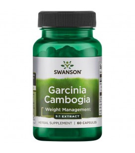 Swanson Garcinia Cambogia 5:1 Extract 80mg 60kaps