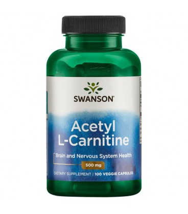 Swanson Acetyl L-Carnitine 500mg 100 vcaps