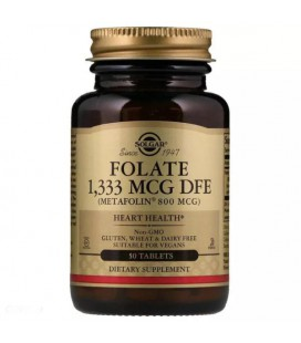Solgar Folate 800mcg (Metafolin) 50 tabletek