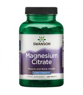 Swanson Cytrynian Magnezu 225mg 240tab