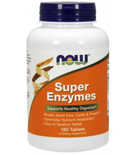 NOW FOODS SUPER ENZYME CAPS 180 TAB