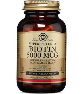 Solgar Biotyna 5000mcg Super Potency 50VCaps