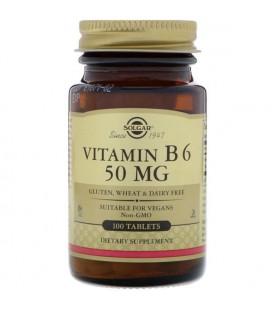 Solgar Witamina B6 50mg 100 Tabletek