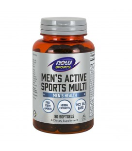 NOW FOODS MEN'S EXTREME SPORTS MULTI 90 SGELS