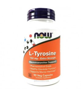 NOW FOODS L-TYROSINE 750MG 90 VCAPS