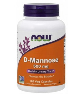 NOW FOODS D-MANNOSE 500MG 120VCAPS