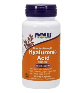 NOW FOODS HYALURONIC ACID 100MG PLUS 60VCAPS