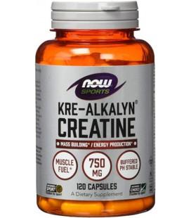 NOW FOODS KRE-ALKALYN CREATINE 750MG 120 CAPS