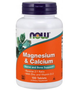 NOW FOODS MAG & CALCIUM 2:1 RATIO 100 TABLETEK