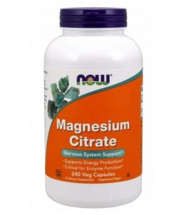 NOW FOODS MAGNESIUM CITRATE 240 VCAPS