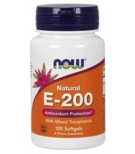 NOW FOODS VITAMIN E-200 MIXED TOCOFEROLS 100SOFT