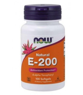 NOW FOODS VITAMIN E-200 DA 100 SOFTGELS