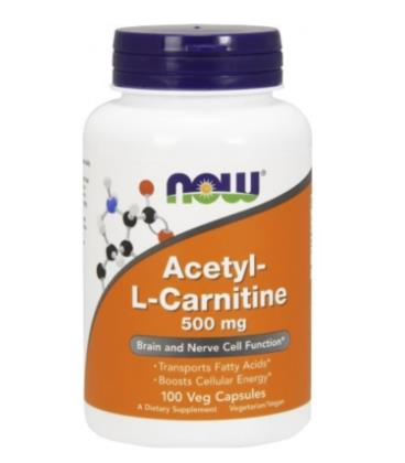 NOW FOODS ACETYL L-CARN 500MG 100 VCAPS