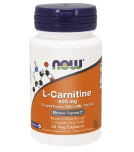 NOW FOODS L-CARNITINE 500MG 30 VCAPS