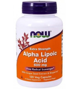 NOW FOODS ALPHA LIPOIC ACID 600MG 120 VCAPS