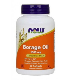 NOW FOODS BORAGE OIL 1000MG 60 SOFTGELS