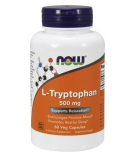 NOW FOODS L-TRYPTOPHAN 500MG 60 VCAPS