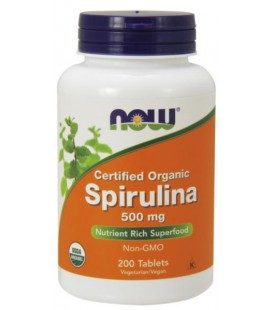 NOW FOODS ORG SPIRULINA 500MG 200 TABL