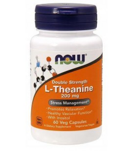 NOW FOODS THEANINE 200MG 60 VCAPS