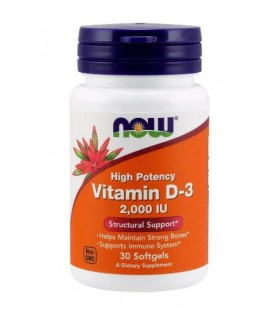 NOW FOODS VITAMIN D-3 2000IU 30 SOFTGELS