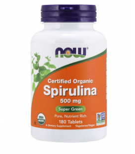 NOW FOODS ORG SPIRULINA 500MG 180 TABL