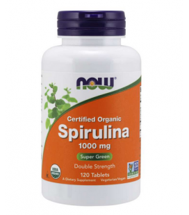 NOW FOODS ORG SPIRULINA 1000MG 120TABL
