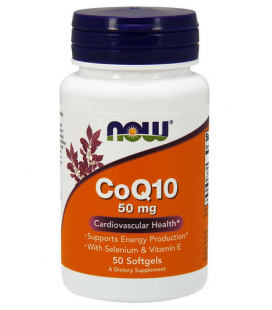 NOW FOODS CoQ-10 50MG + VIT E 50SOFTGELS