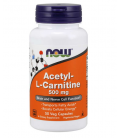 NOW FOODS ACETYL L-CARN 500MG 50 VCAPS